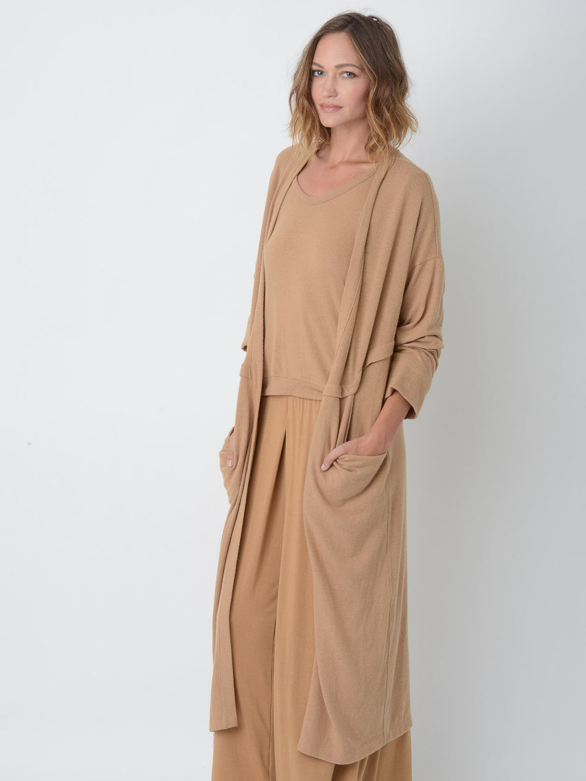 Aster Cardigan Robe / Butterscotch, Women's, Clothing, Apparel - Drifter Industries
