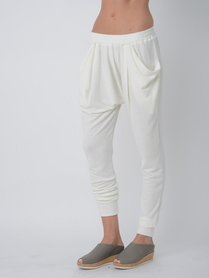 Skylor Tapered-fit Lounge Pant / Ivory