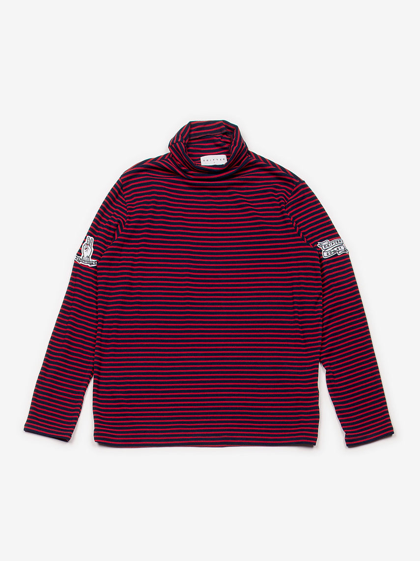 Arjun Turtleneck Top / Red/Navy