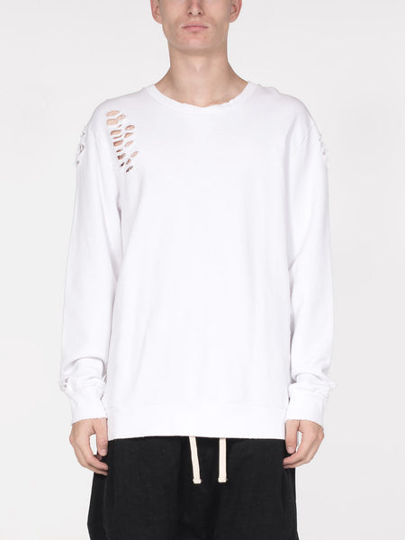 Brendan Pullover / White, Men's, Clothing, Apparel - Drifter Industries