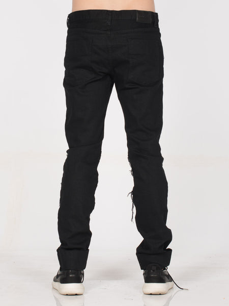 Kuro 5 Pockets Denim with Exposed Seams / Black, Men's, Clothing, Apparel - Drifter Industries
