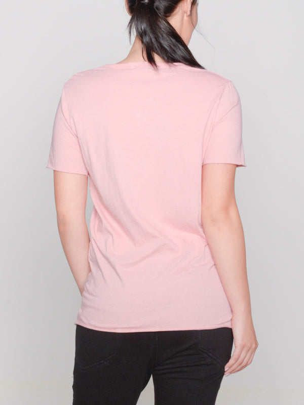 Remy Hand-Distressed Tee / Coral Almond