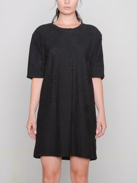 Gebella T-Shirt Dress / Black