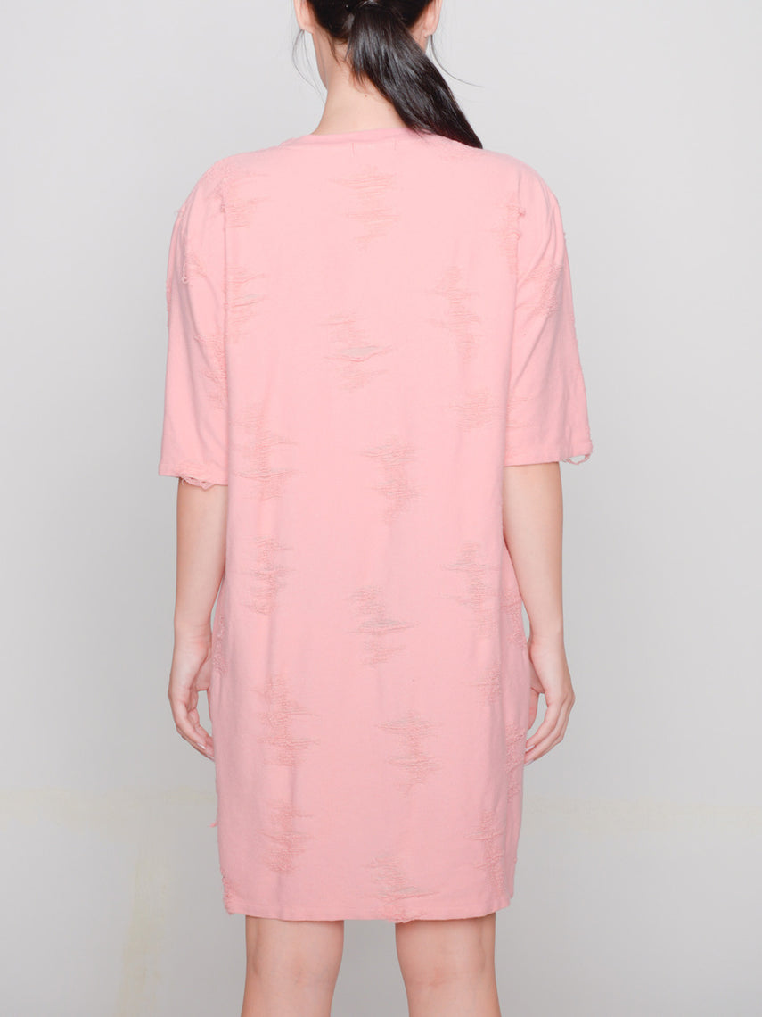 Gebella T-Shirt Dress / Coral Almond