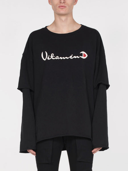 Filius Vitamin D Long Sleeve Tee / Black