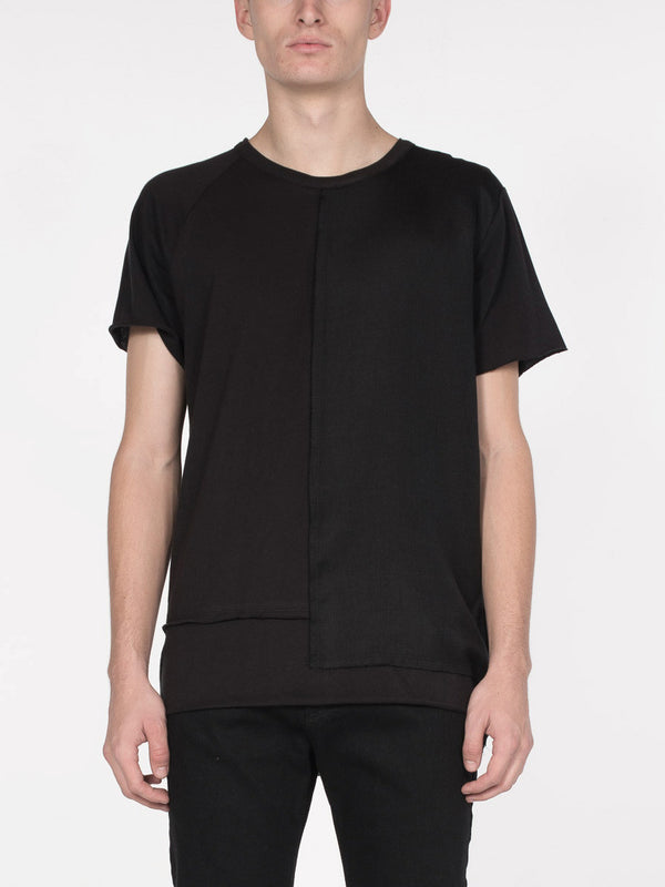 Equinox Mixed Fabrication Tee / Black, Men's, Clothing, Apparel - Drifter Industries