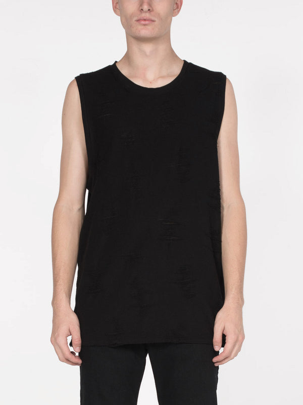Ben Shredded Tank / Black, Men's, Clothing, Apparel - Drifter Industries