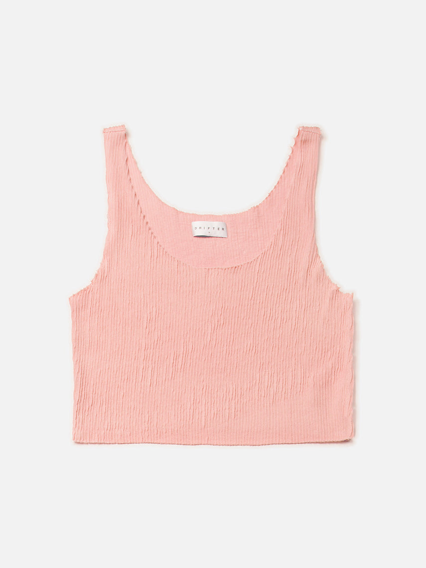 Clementine Crop Top / Coral Almond