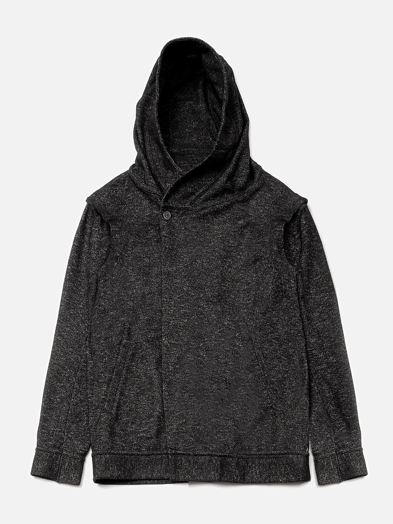 Espial Hooded Cardigan / Heather Black, Men's, Clothing, Apparel - Drifter Industries