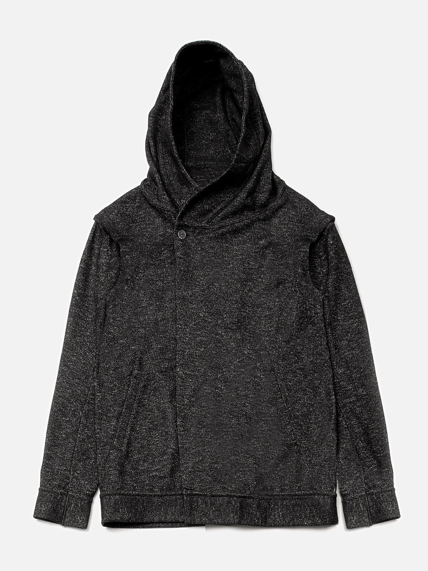 Espial Hooded Cardigan / Heather Black