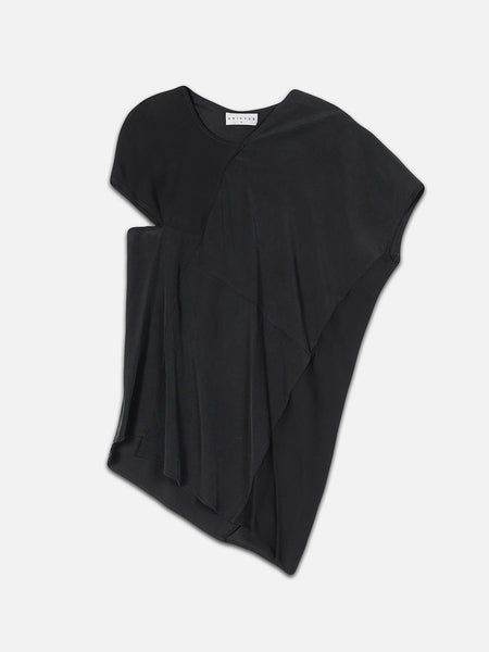 Arlian Silk Asymmetrical Top