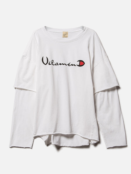Filius Vitamin D Long Sleeve Tee / White