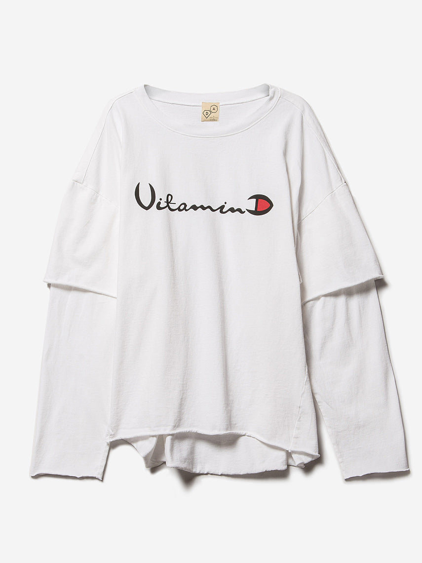 Filius Vitamin D Long Sleeve Tee / White, Women's, Clothing, Apparel - Drifter Industries