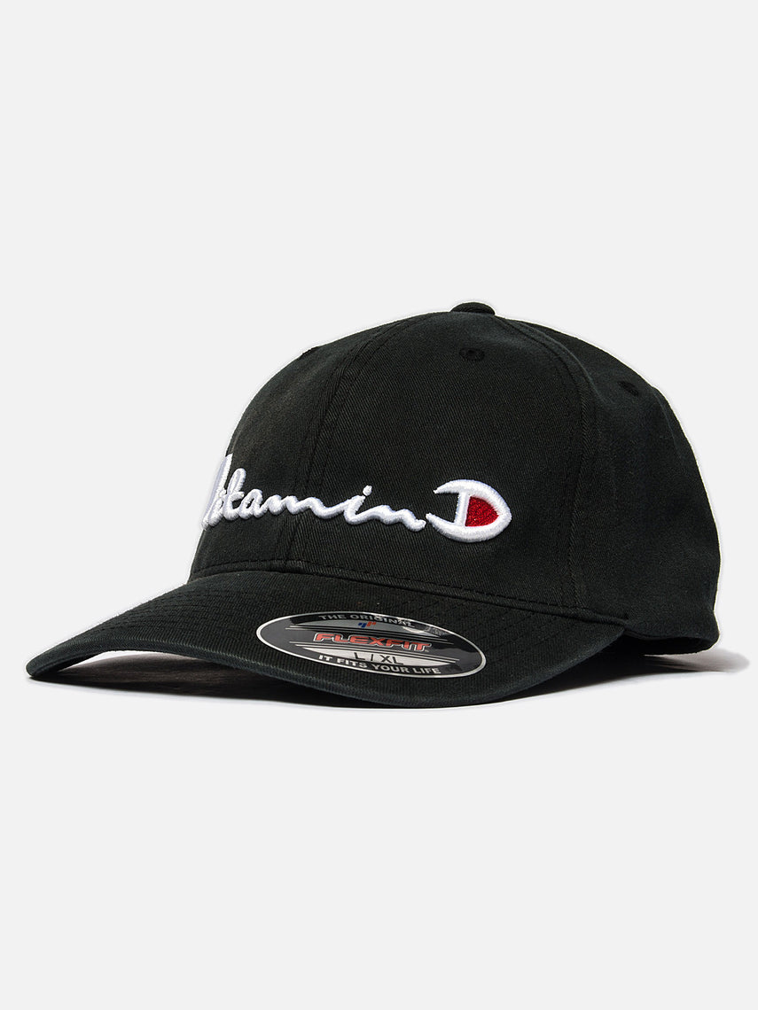 D x A Vitamin D Hat / Black, Collaboration, Clothing, Apparel - Drifter Industries