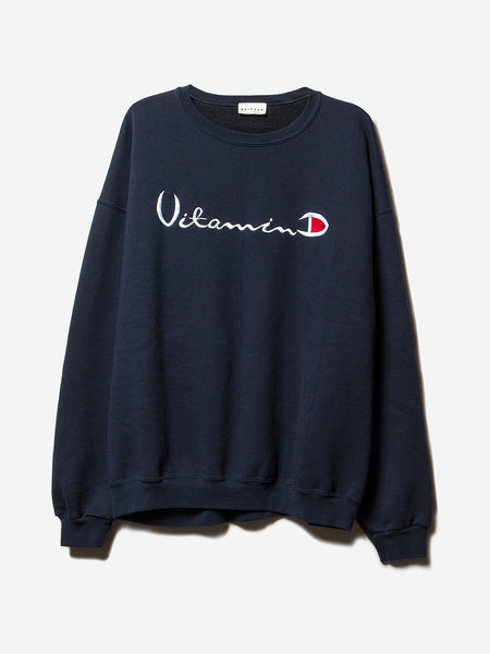 D x A Helios Vitamin D Sweatshirt / Navy, Men's, Clothing, Apparel - Drifter Industries