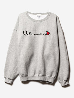 D x A Helios Vitamin D Sweatshirt / H. Grey, Collaboration, Clothing, Apparel - Drifter Industries