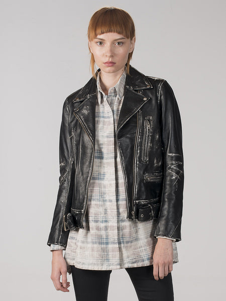 Liri Leather Moto Jacket, Women's, Clothing, Apparel - Drifter Industries
