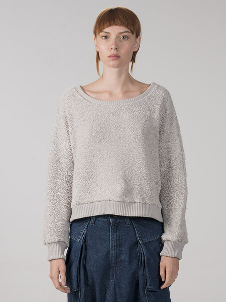 Somalia Crop Pullover / Moonbeam