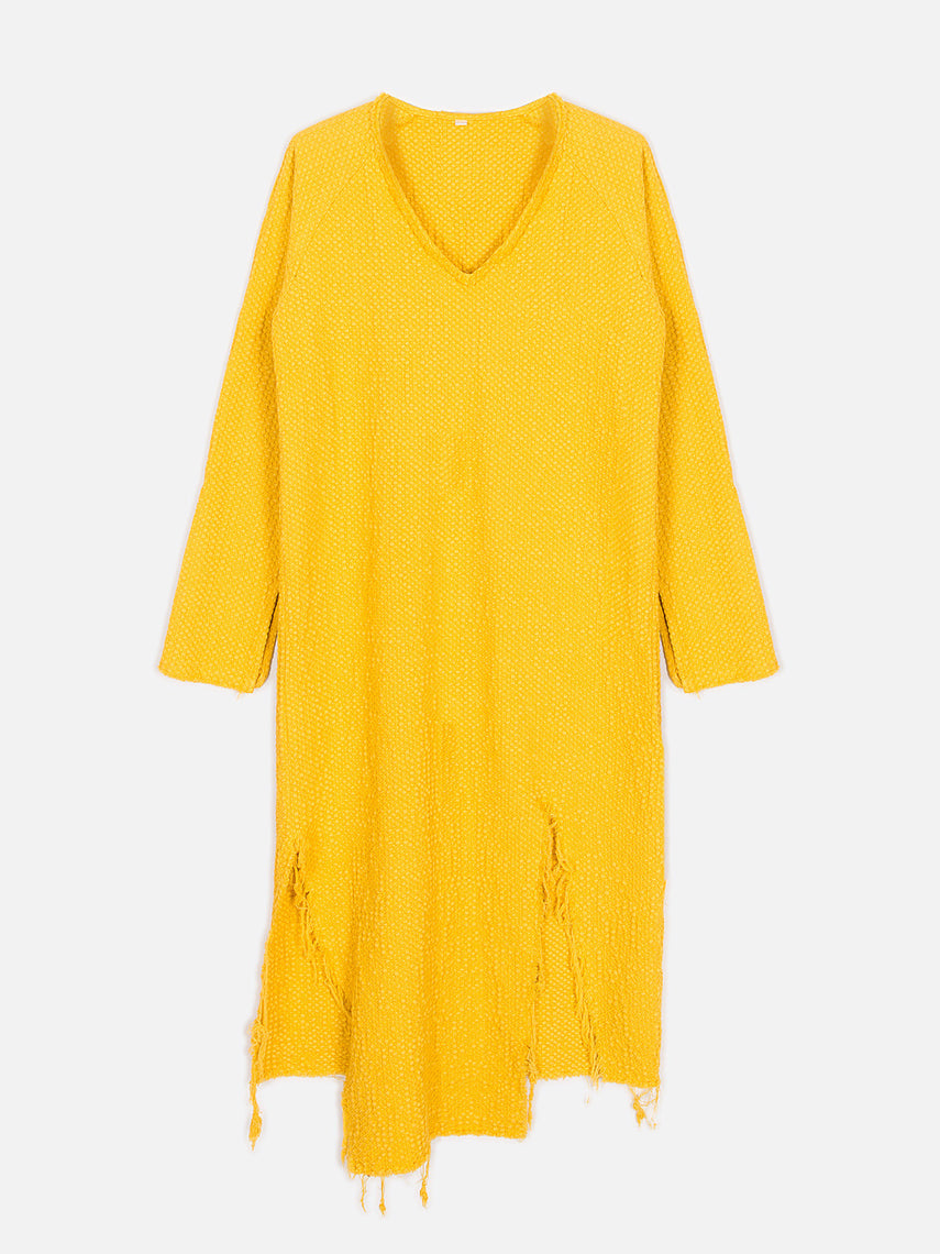 Agatha Dress / Mustard, Women's, Clothing, Apparel - Drifter Industries
