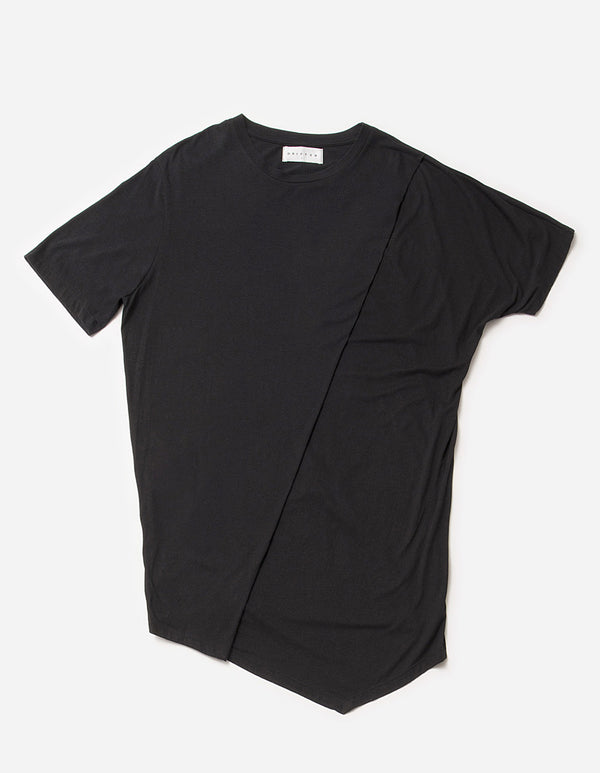 Laurence Asymmetrical Tee /Black, Men's, Clothing, Apparel - Drifter Industries