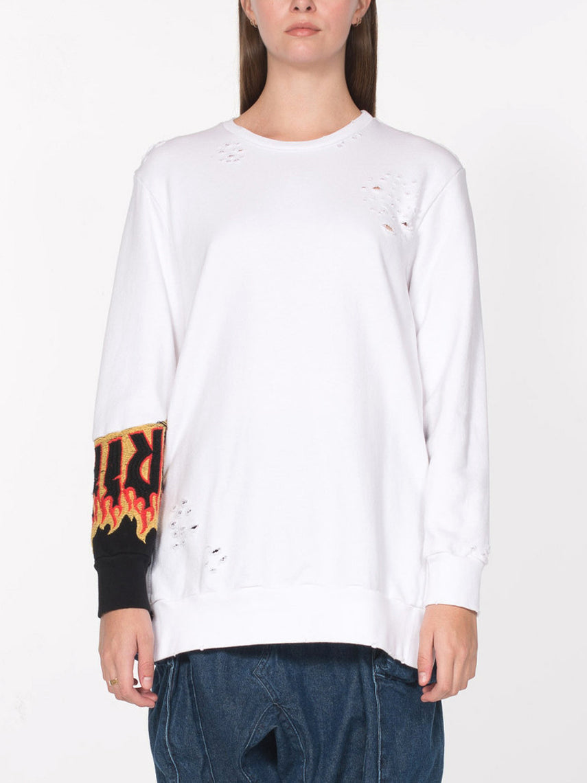 Brenne Pullover / White, Women's, Clothing, Apparel - Drifter Industries