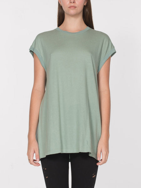 Darius Lounge Muscle Top / Iceberg Green, Women's, Clothing, Apparel - Drifter Industries