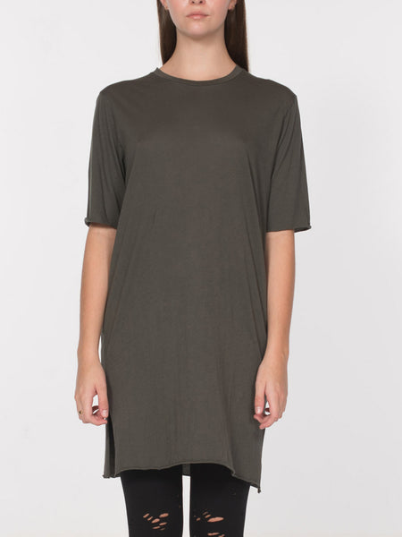 Neal Elongated Tee / Olive, Women's, Clothing, Apparel - Drifter Industries