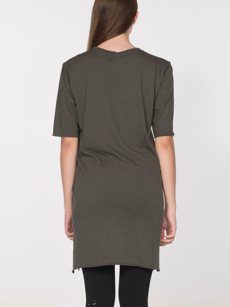 Neal Elongated Tee / Olive