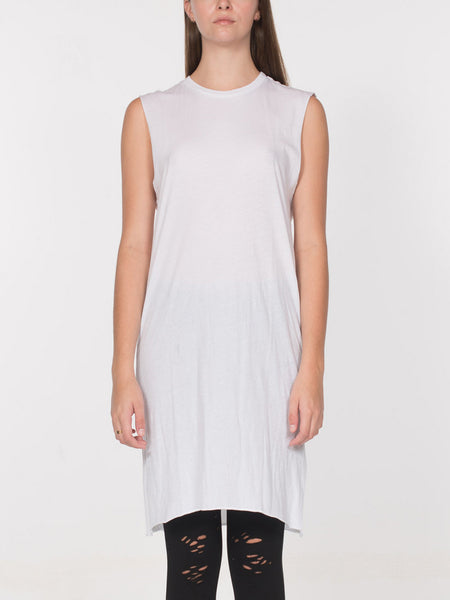 Alec Elongated Tank / White