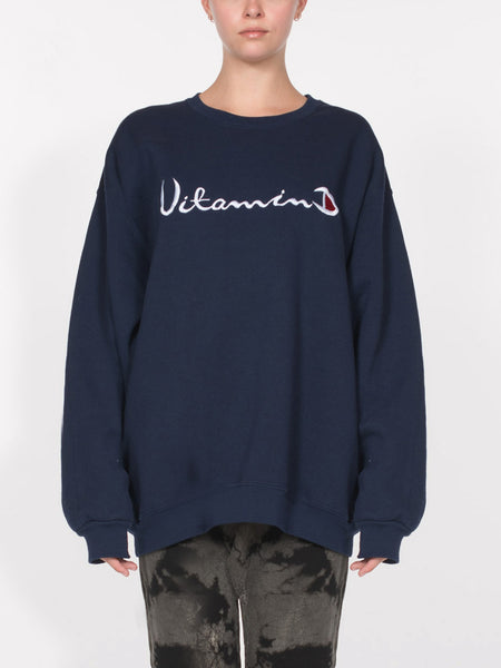 Helios Vitamin D Sweatshirt / Navy, Women's, Clothing, Apparel - Drifter Industries