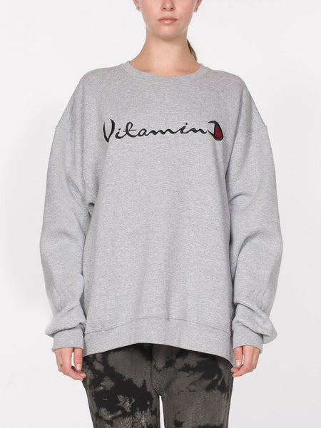Helios Vitamin D Sweatshirt / H. Grey, Women's, Clothing, Apparel - Drifter Industries
