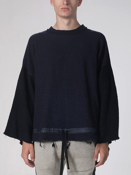 Haku Over-Sized Pullover / Navy