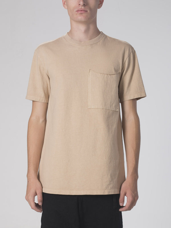 Ibidem Crew Neck Top / Light Sand, Men's, Clothing, Apparel - Drifter Industries