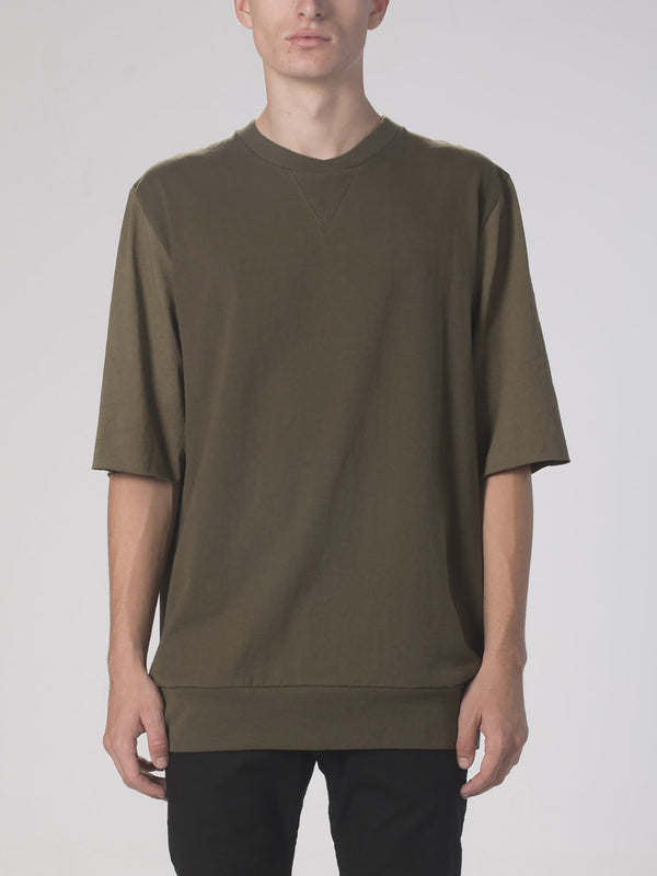Empyreal Crew Neck Top / Dark Army, Men's, Clothing, Apparel - Drifter Industries