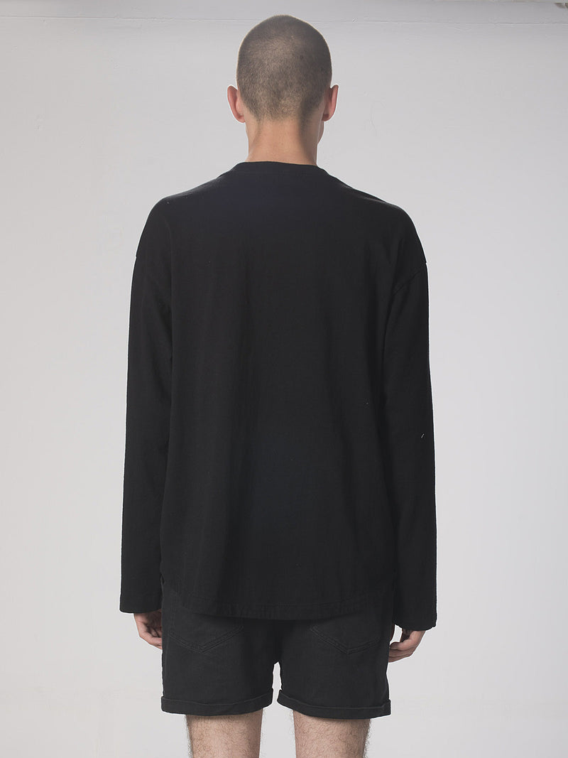 Rukuo Crew Neck Top / Black, Men's, Clothing, Apparel - Drifter Industries