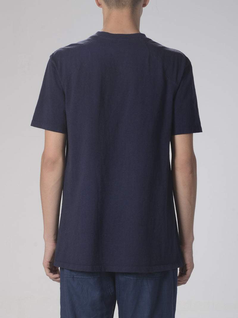 Ibidem Crew Neck Top / Navy, Men's, Clothing, Apparel - Drifter Industries