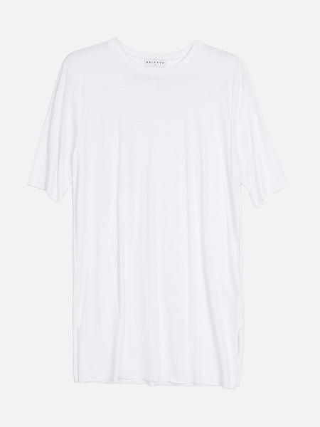 Nelson Elongated Tee / White, Men's, Clothing, Apparel - Drifter Industries