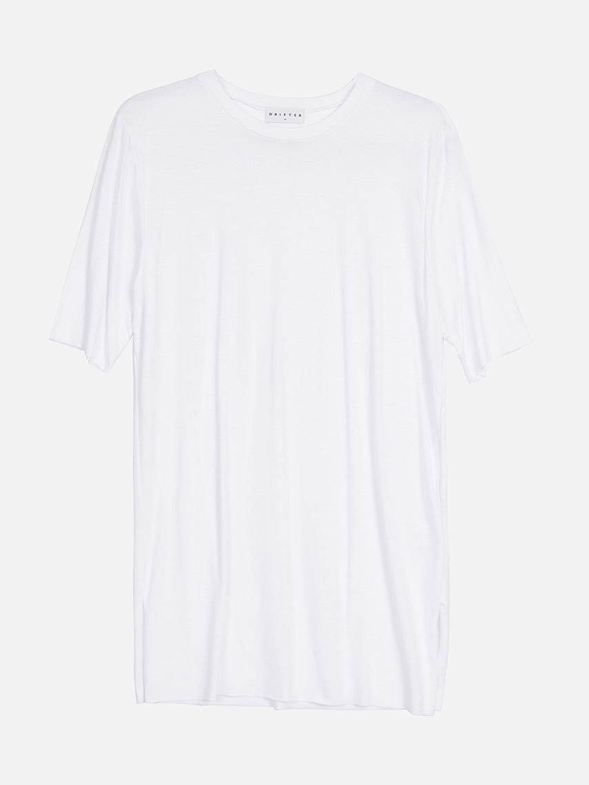 Nelson Elongated Tee / White