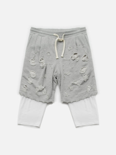 Destructor Shorts / Heather Grey, Men's, Clothing, Apparel - Drifter Industries