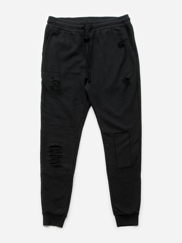 Oliver Distressed Pant / Black, Men's, Clothing, Apparel - Drifter Industries