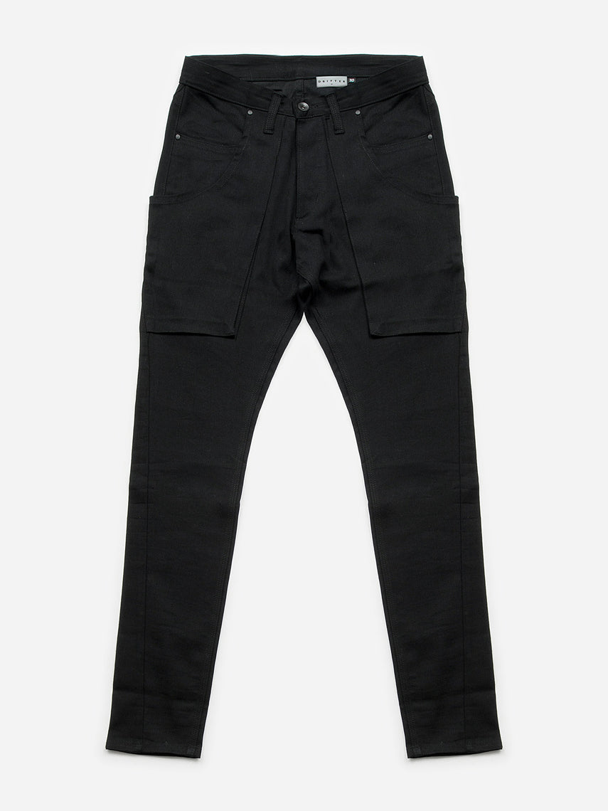 Primero Skinny Bull-Denim Pants / Black, Men's, Clothing, Apparel - Drifter Industries