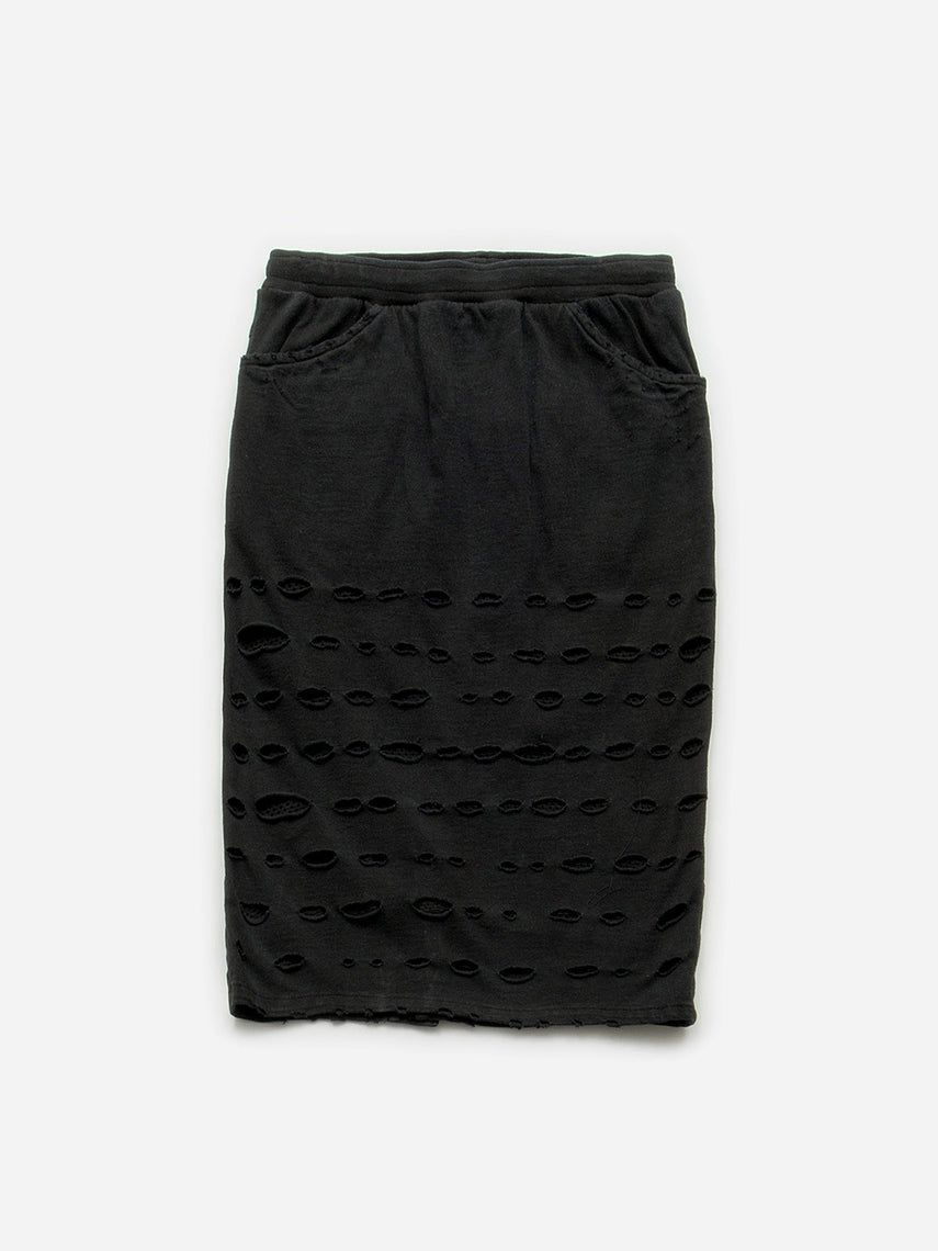 Ultra Distressed Skirt / Black