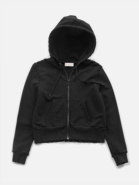 Regency Distressed Mini Hoodie / Black