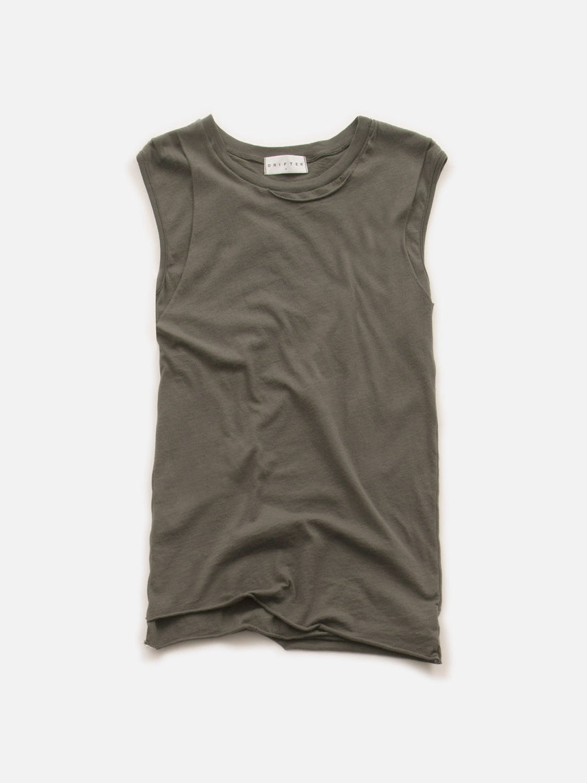 Persistance Fitted Muscle Tank / Olive, Women's, Clothing, Apparel - Drifter Industries