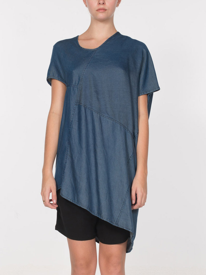 Edition Asymmetrical top / Indigo