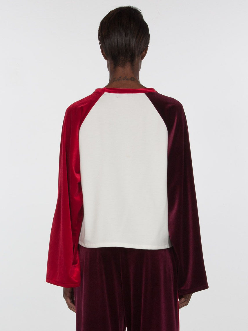 Ella  Baseball Tee / Ivory x Red x Blackberry, Women's, Clothing, Apparel - Drifter Industries
