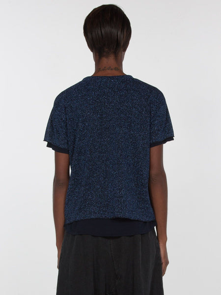 Fantasia Metallic Top / Navy