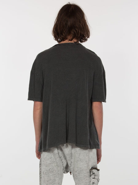 Feldspar Crew Neck Top / Black Pigment