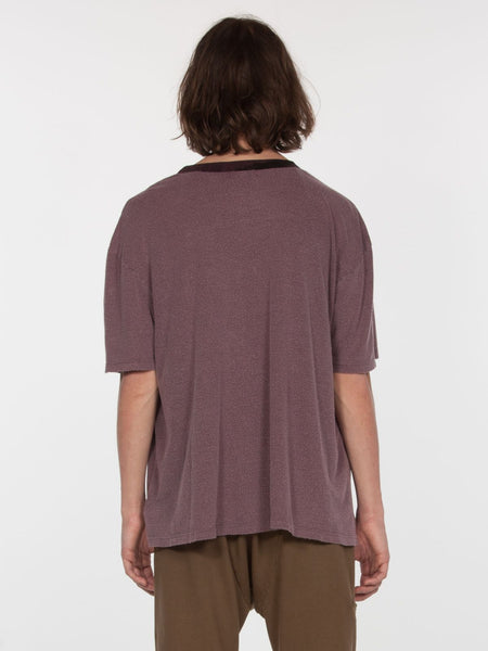 Feldspar Crew Neck Top / Burgundy Pigment