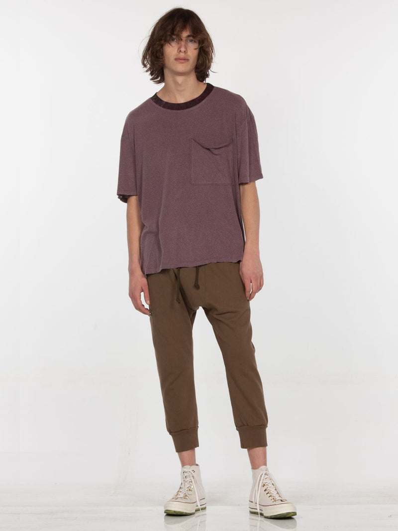 Feldspar Crew Neck Top / Burgundy Pigment, Men's, Clothing, Apparel - Drifter Industries